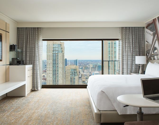 Downtown Chicago Views from Guest Room at Chicago Marriott Downtown Magnificent Mile