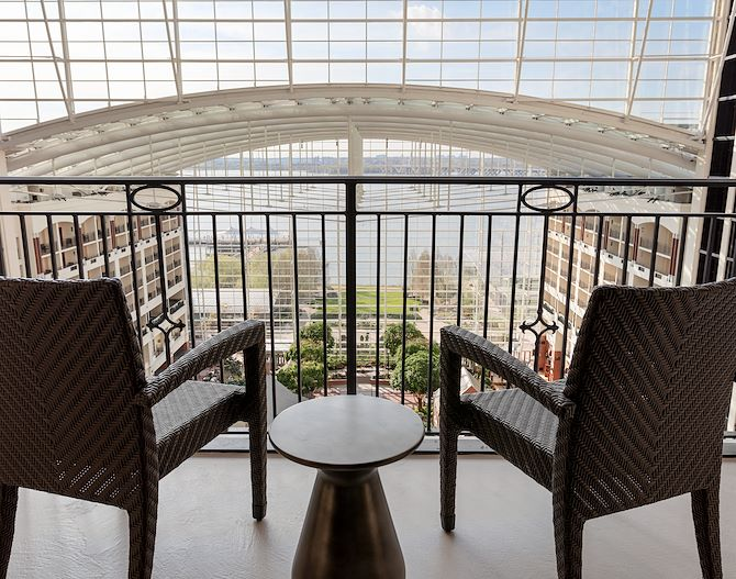 Balcony views overlooking Potomac River at Gaylord National