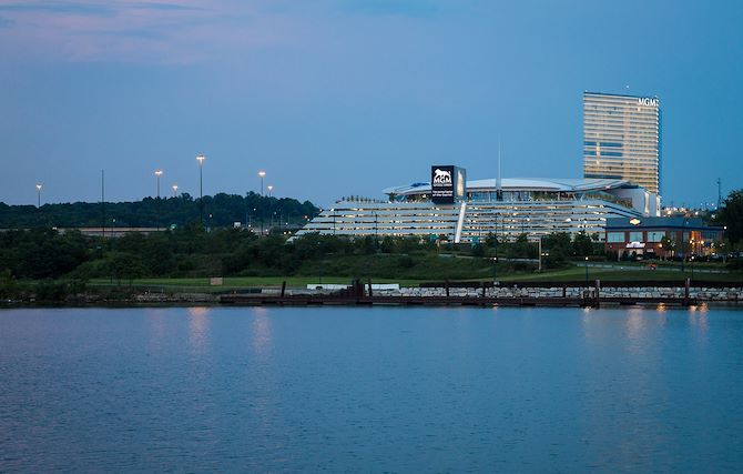 MGM National Harbor Exterior Waterfront View