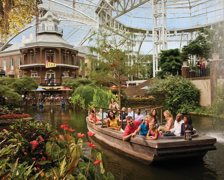 Guests on Delta Riverboat inside Gaylord Opryland