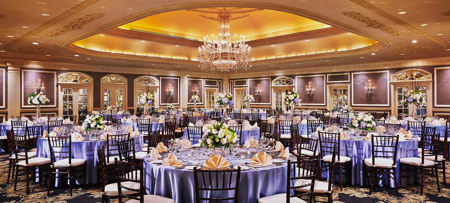 Ballroom with table settings at Gaylord Opryland