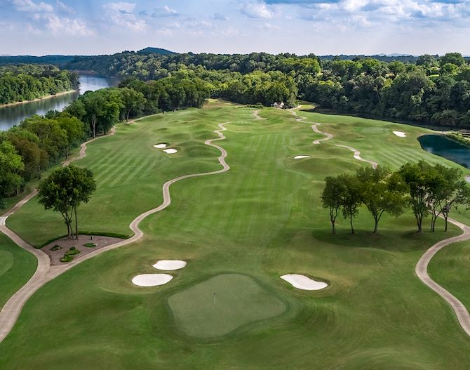 Gaylord Springs Golf Greenery on Cumberland River in Nashville, TN