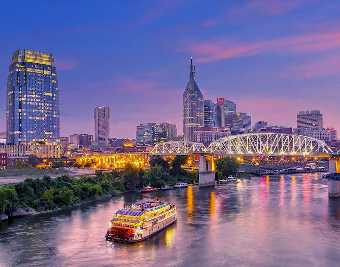 General Jackson Showboat on river in Downtown Nashville
