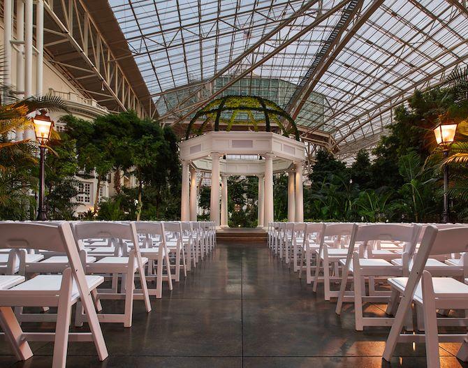 Wedding Pavilion inside Delta Atrium at Gaylord Opryland
