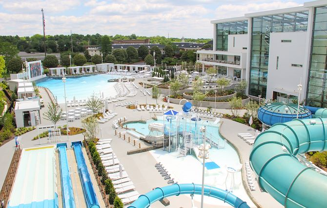 SoundWaves Outdoor Slides and Pool