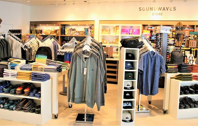 Clothing and accessories at SoundWaves Signature Store