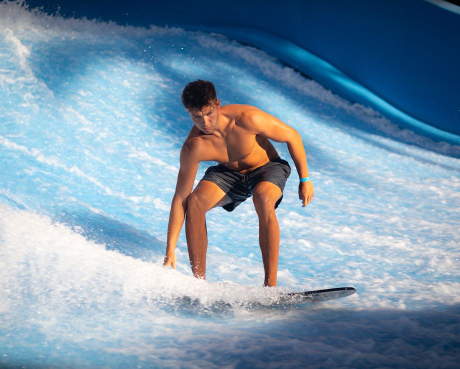 Guest on Flowrider - Cypress Springs Water Park - Gaylord Palms