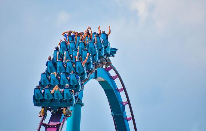 Roller Coaster going upside down
