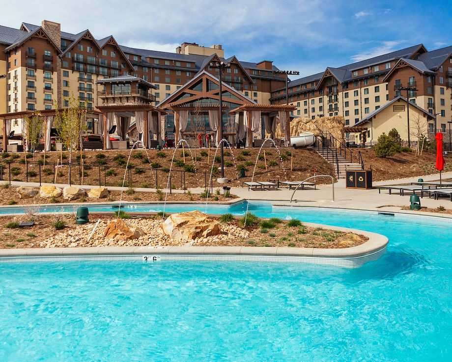 Arapahoe Springs Lazy River in front of Gaylord Rockies Resort in Aurora, CO