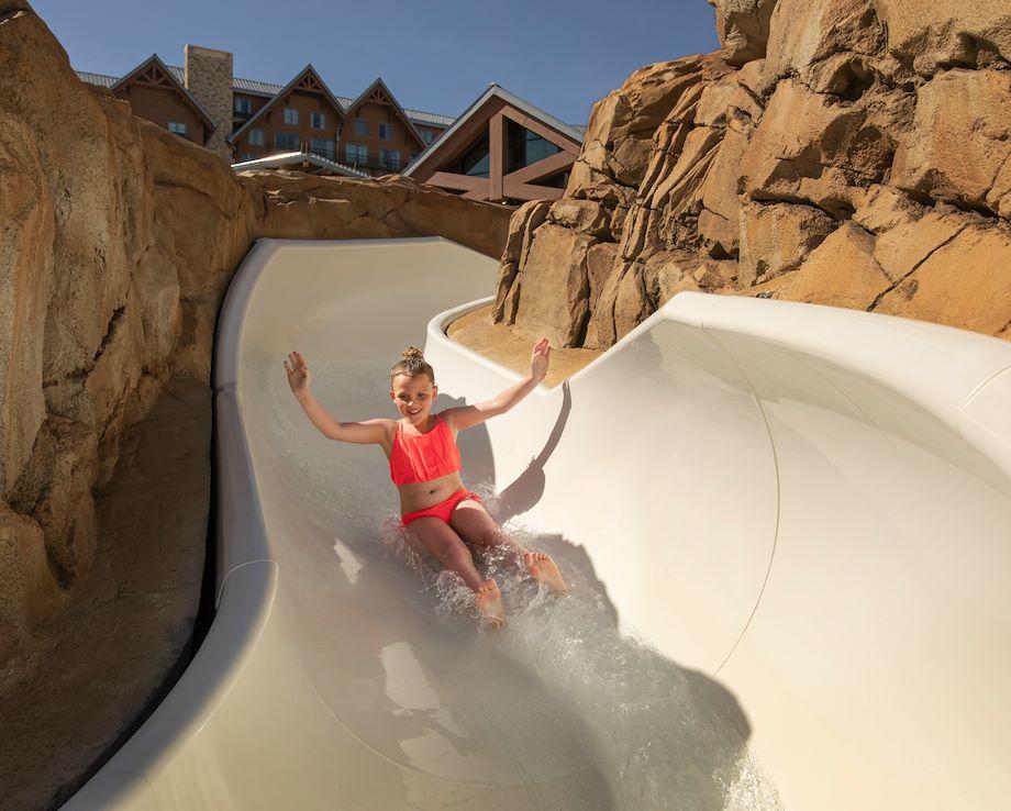 Arapahoe Springs Outdoor Water Slide at Gaylord Rockies Resort in Aurora, CO