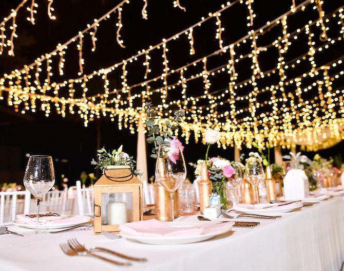 Wedding table setting - Gaylord Texan