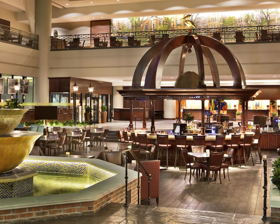Image of a hotel lobby