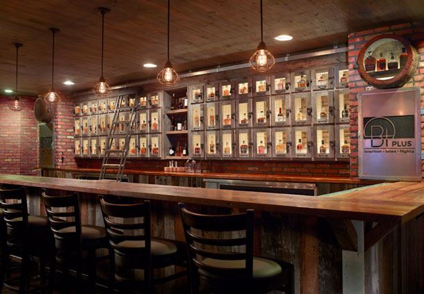 B+ Bar Wall of Bourbon