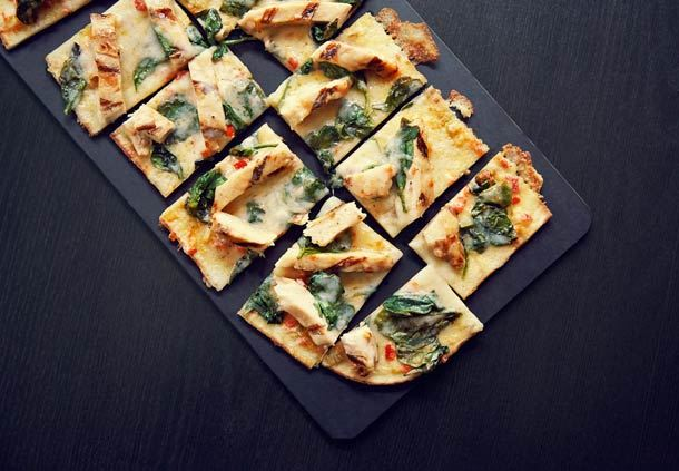 Spicy Chicken & Spinach Flatbread