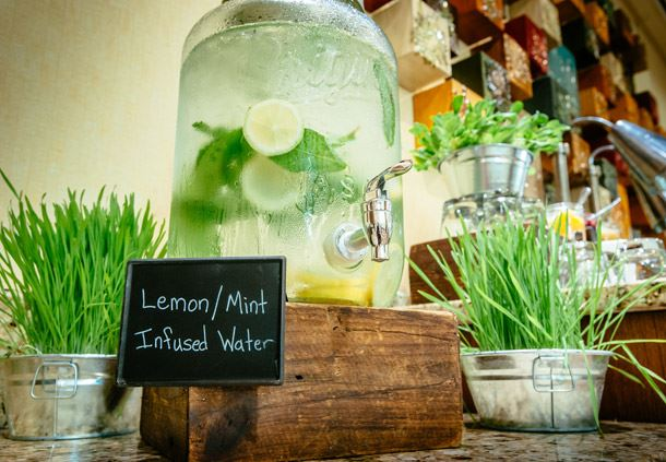 Coffee Break - Lemon-Mint Infused Water