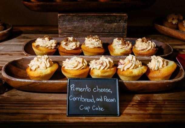 Coffee Break - Pimento Cheese, Cornbread Cupcake