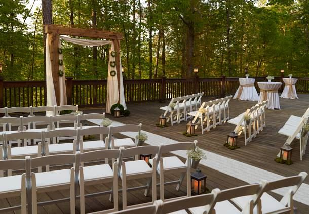 Lakeside Deck - Wedding Ceremony