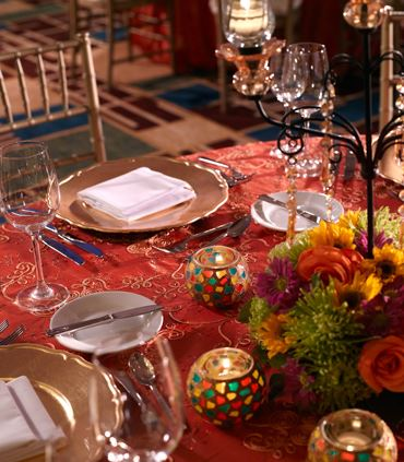 Indian Wedding Table Décor