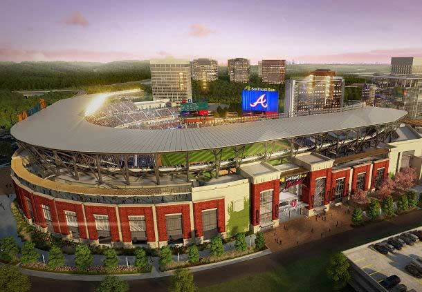 Suntrust Park (New Braves Stadium) - Rendering