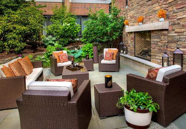 Outdoor Patio Sitting Area