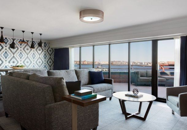 Long Wharf Presidential Suite Living Area