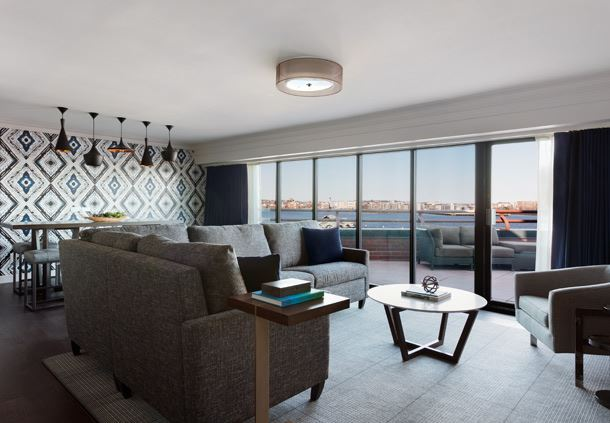 Long Wharf Presidential Suite - Living Area