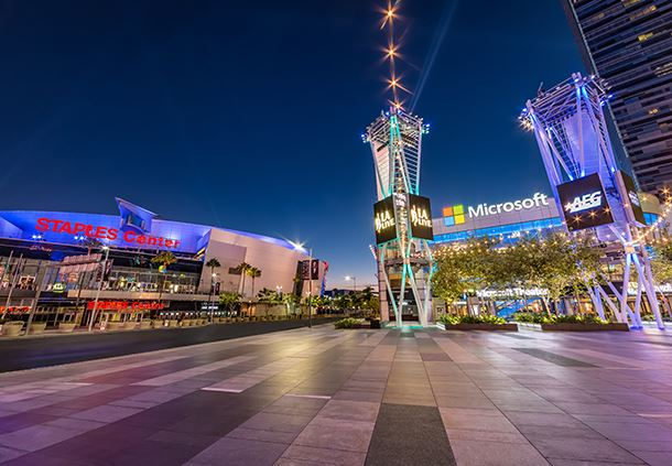 Microsoft Theater and Staples Center