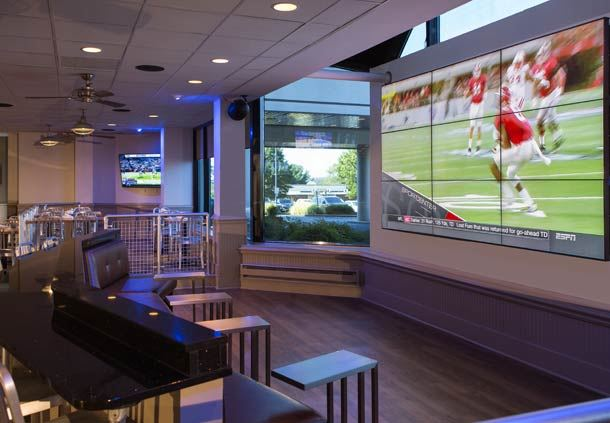 Video Wall with Lounge Seating