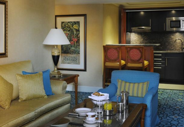 Diplomatic Suite Living Room & Kitchenette