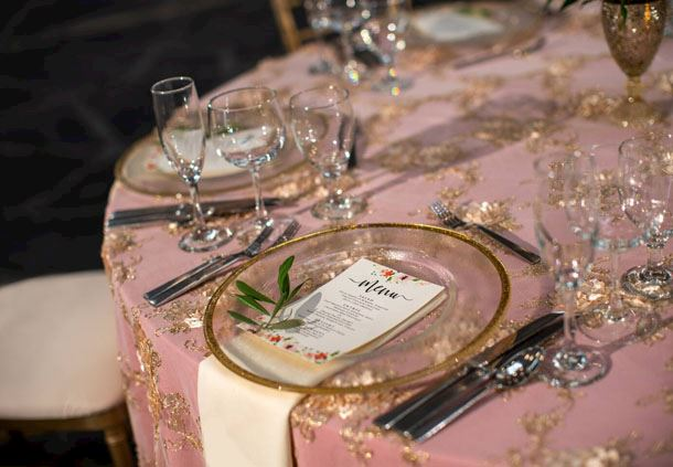 Wedding Reception - Table Setting