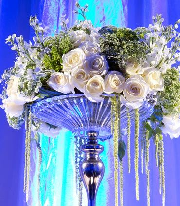 Decoración de boda con rosas