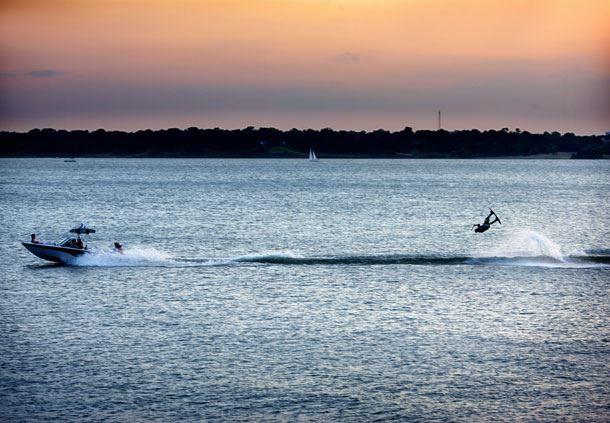Water Skiing on Lake Grapevine