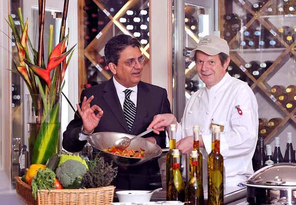 Showkochen im Restaurant Concorde