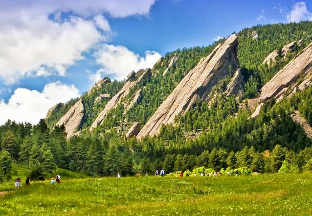 Boulder Flatirons in the Spring