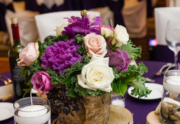 Modern Floral Wedding Centerpiece