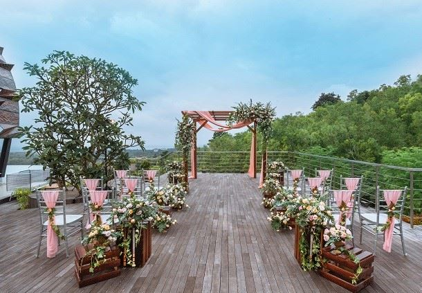 Celebration Pavilion - Wedding Ceremony Setup