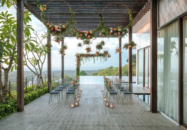 Presidential Villa Deck - Wedding Reception