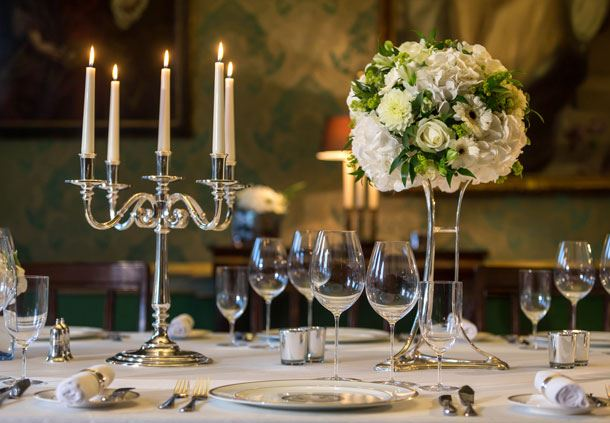 Private restaurant table setting