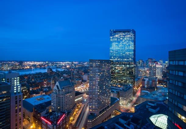 Vista nocturna desde Boston Marriott Copley Place
