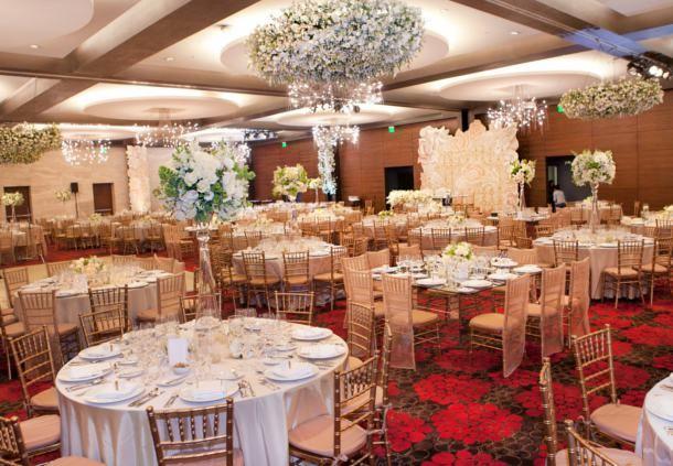 Vista del salón de bodas en Santa Fe