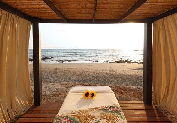 Cabañas en la playa para masajes en Guanacaste