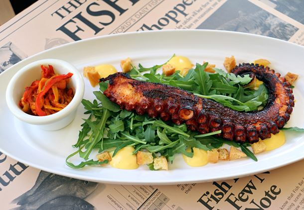 Grilled Octopus Piperade