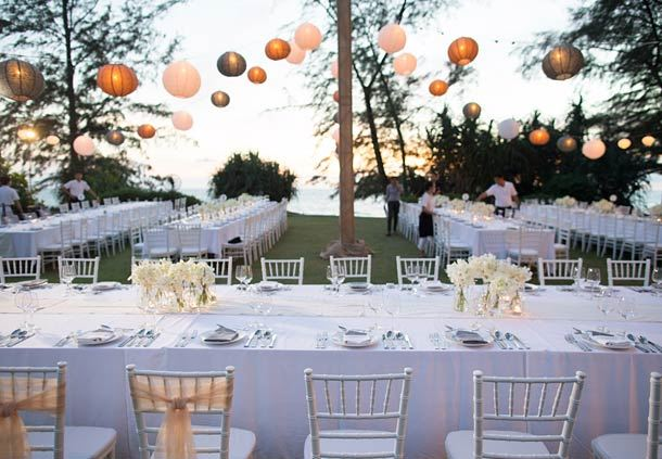 Outdoor Wedding Reception Dinner