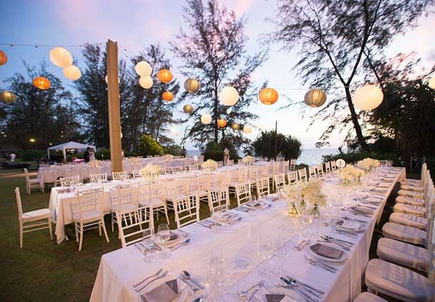 Reception Dinner on Beach Lawn