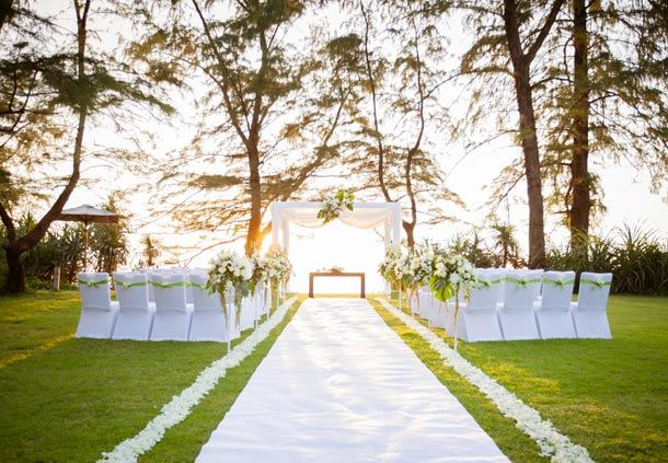Wedding Ceremony - Beach Lawn