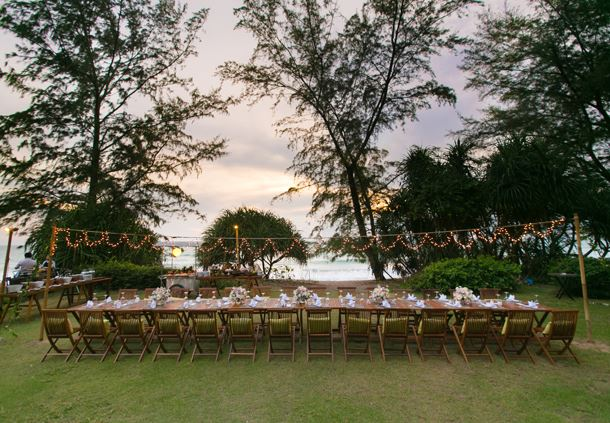 Wedding Reception - Beach Lawn