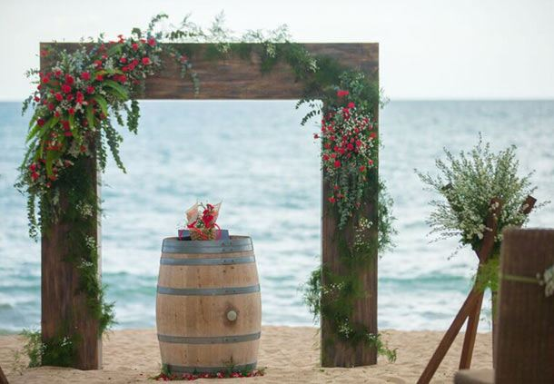 Ceremonial Wedding Arch on the Beach