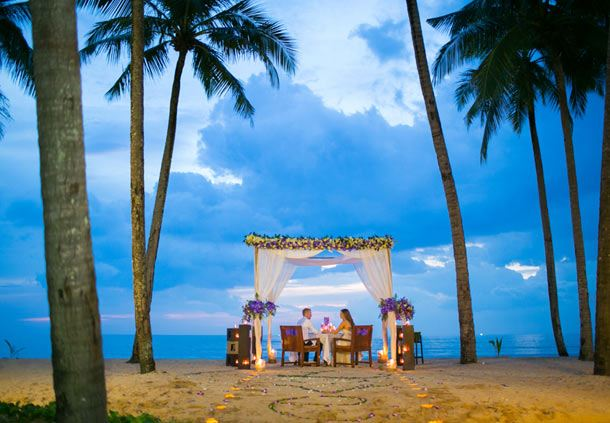 Private Beachfront Dinner for the Bride & Groom