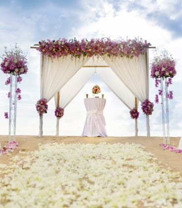 Beach Wedding Flower Arrangements