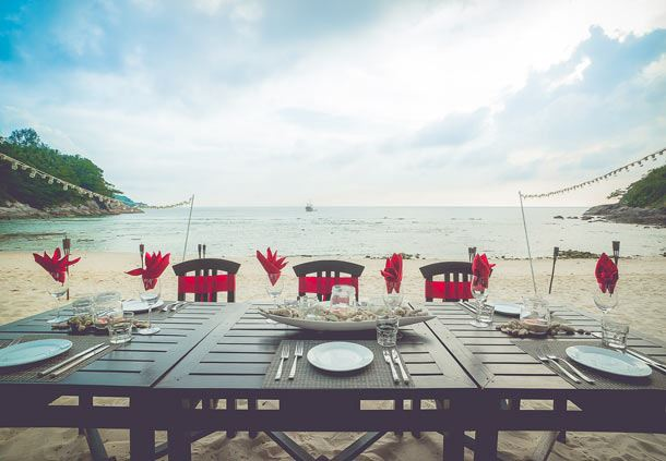 Beachfront Reception